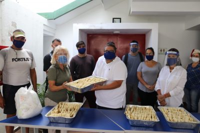 Cevamar prepara 240 arepas rellenas de solidaridad